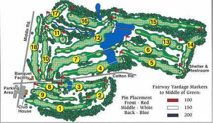 Whispering Pines Golf Course Layout