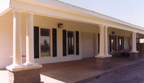 New front of clubhouse
